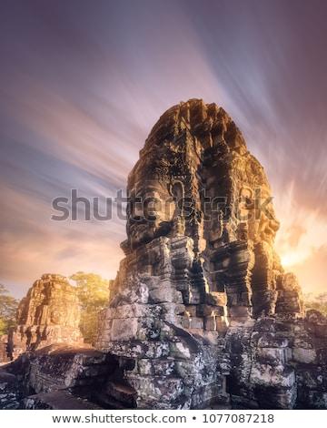 Foto stock: Gigante · buda · estátua · angkor · Camboja · ruínas