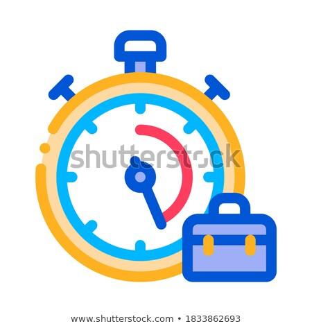 секундомер чемодан проворный элемент вектора икона Сток-фото © pikepicture