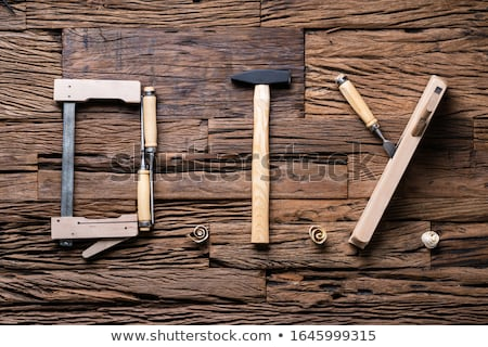 Stock fotó: Diy Word Made Up Of Different Worktools