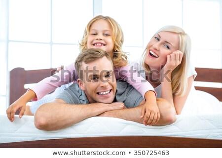 Familie Paar Liebe aufrichtig Emotionen Gefühle Stock foto © vkstudio