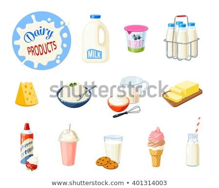 молоко йогурт изолированный Сток-фото © robuart