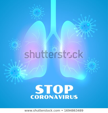 infected lungs from nocel coronavirus disease background Stock photo © SArts