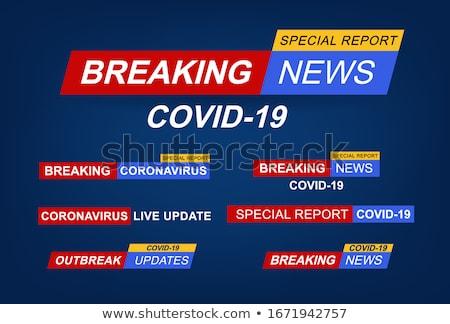 covid19 news and coronavirus updates banners set Stock photo © SArts