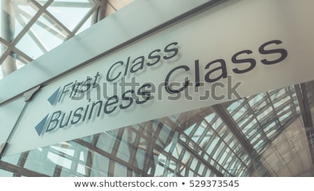 The first time in first class Stock photo © olira