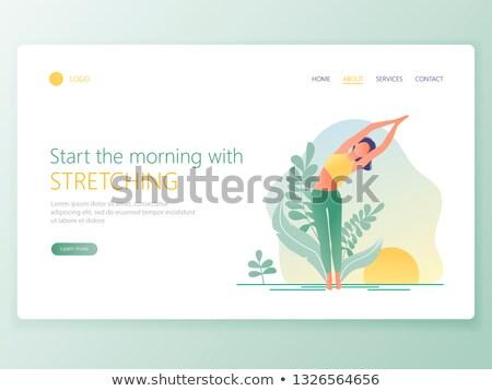 Yoga scuola atterraggio pagina insegnante Foto d'archivio © RAStudio