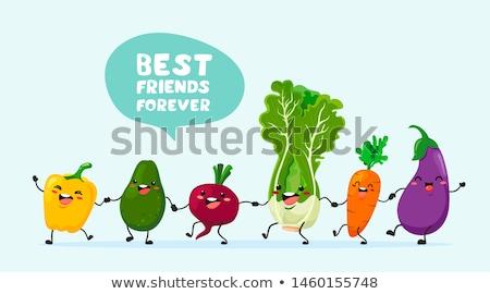 Vegan egészség étel gyűjtemény immúnis ételek Stock fotó © marilyna
