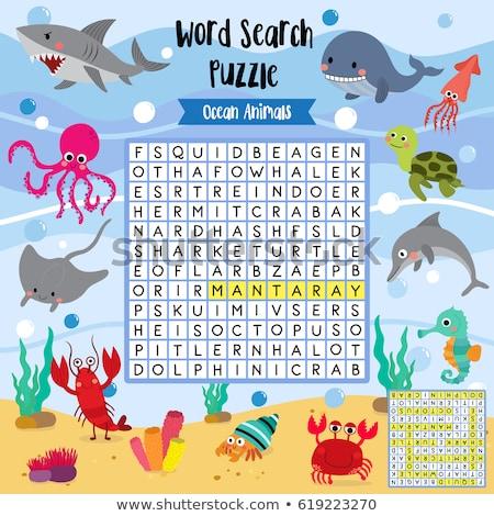 кроссворд игры дети слово поиск головоломки Сток-фото © natali_brill