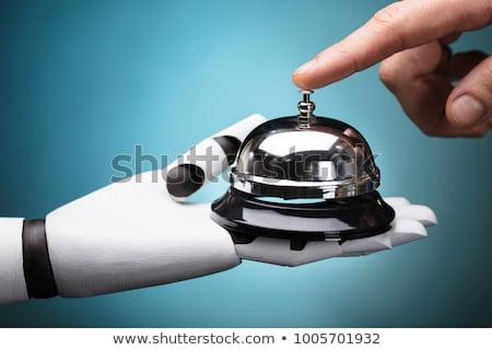 Vendégszeretet robot portás harang modern technológia Stock fotó © AndreyPopov