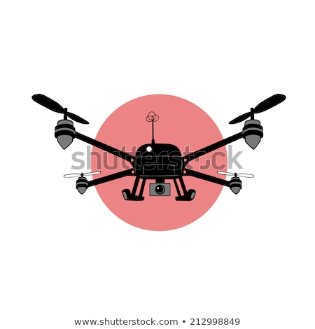 Drone Flying at Sky, Helicopter with Wings Vector Stock photo © robuart