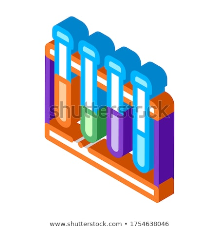 Lab vidro test tube isométrica ícone vetor Foto stock © pikepicture