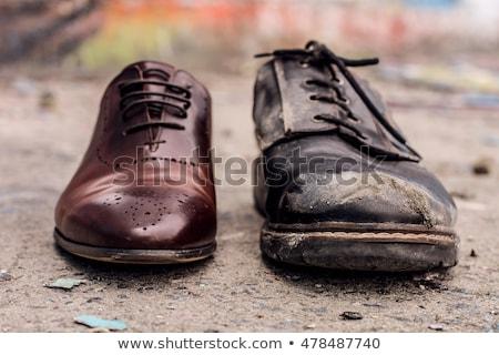 negro · zapato · dinero · blanco · piel · mujeres - foto stock © gewoldi