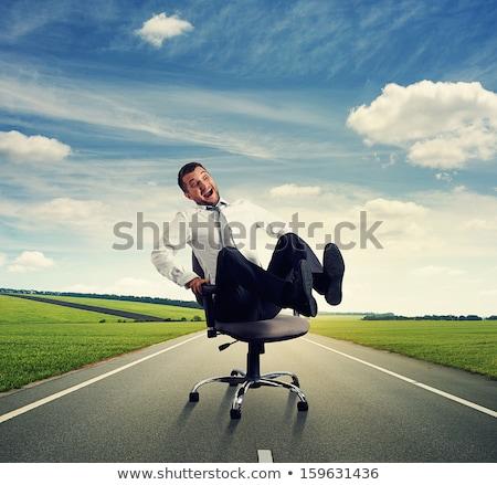 笑い ビジネスマン 事務椅子 オフィス 手 作業 ストックフォト © Paha_L