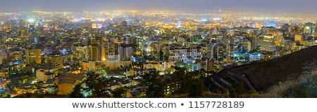 Tahran · gece · atış · İran · ünlü · işaret - stok fotoğraf © borna_mir