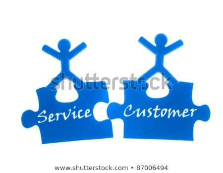 Két személy kezek felső áll üzlet kék Stock fotó © Ansonstock