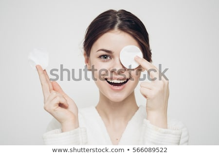 Facial care - woman removing make-up Stock photo © CandyboxPhoto