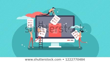 chave · on-line · votação · computador · www - foto stock © devon