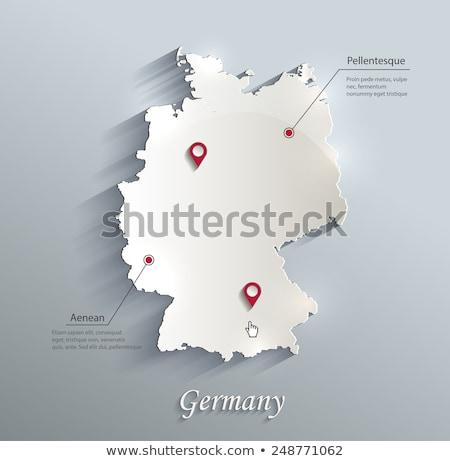 地図 · ヨーロッパ · ドイツ · フラグ · 孤立した · 白 - ストックフォト © unkreatives