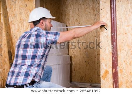 marangoz · giriş · ev · adam · ahşap · çalışmak - stok fotoğraf © photography33