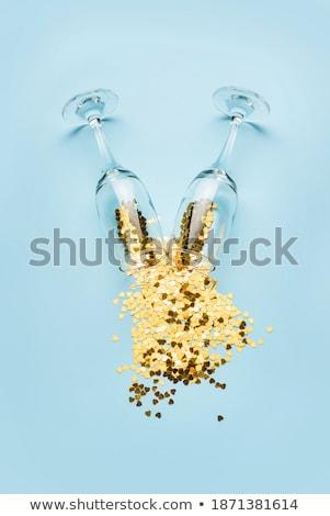şarap · altın · kalp - stok fotoğraf © pekour