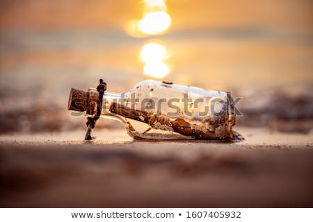 Message in the bottle at sunset Stock photo © photocreo