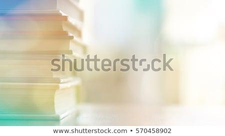 közelkép · színes · könyvek · boglya · köteg · igazi - stock fotó © andreykr