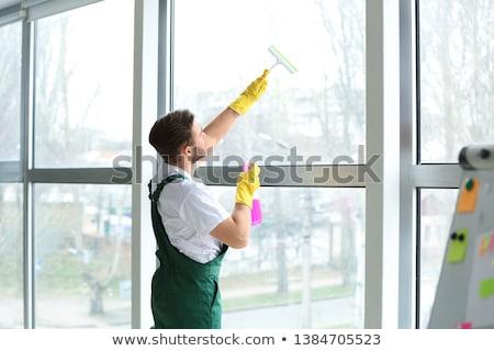 Házvezetőnő takarítás ablak nő ház nők Stock fotó © photography33