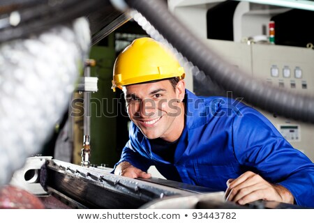 Stock photo: young artisan in overallst