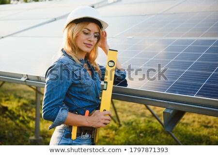 Hombre mujer voltaje trabajo gafas Foto stock © photography33