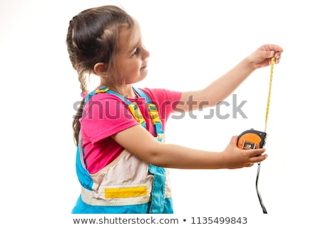 feminino · trabalhador · fita · métrica · mulher · menina · mão - foto stock © photography33