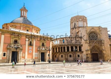 Valencia kathedraal vierkante onderstelling dame Stockfoto © aladin66