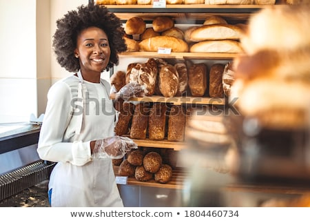 mulher · padaria · compras · pão · exibir · vender - foto stock © photography33