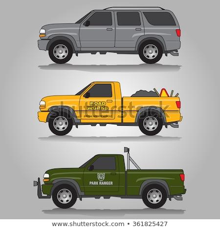 грузовика зеленый три мнение автомобилей аннотация Сток-фото © lkeskinen