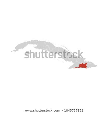 Mappa Cuba Santiago politico parecchi abstract Foto d'archivio © Schwabenblitz
