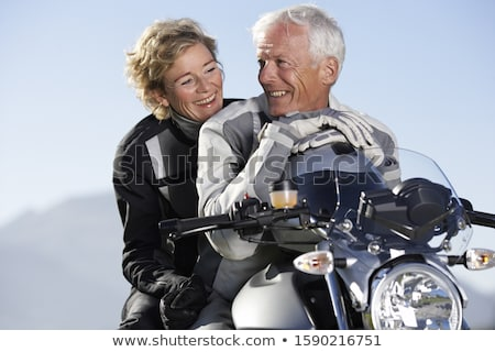 Man on a motorcycle  girlfriend Stock photo © photography33