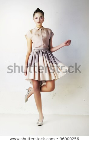Fashion Model In Contemporary Dress Studio Shot Zdjęcia stock © Gromovataya