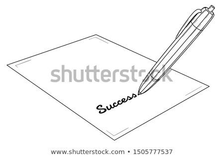 sur · échec · écrit · succès · affaires · noir - photo stock © redpixel