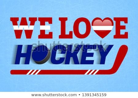 Hockey kleuren Letland afbeelding helm sport Stockfoto © perysty