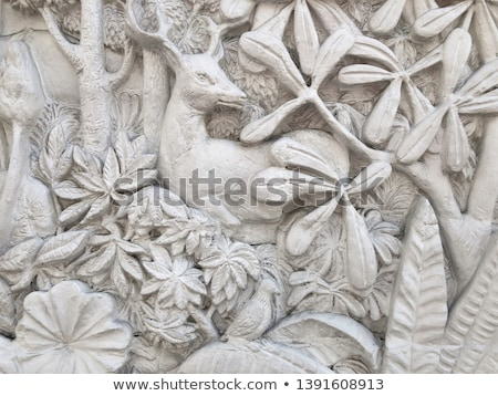 bianco · stucco · thai · stile · muro · texture - foto d'archivio © h2o