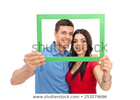 Women posed in a frame Stock photo © photography33