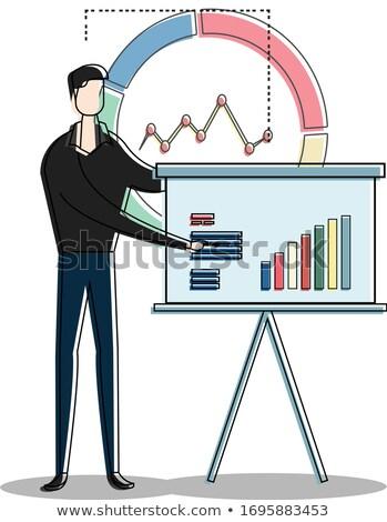 empresário · apresentação · em · pé · negócio - foto stock © photography33