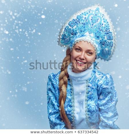 Portrait of a smiling Snow Maiden Stock photo © acidgrey