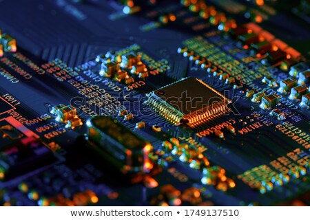Abstract green background - electronic components Stock photo © pzaxe