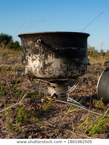 современных · чайник · изолированный · кофе · синий - Сток-фото © johnkasawa