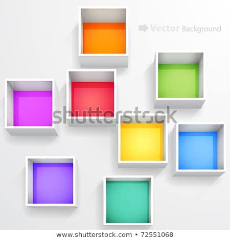 green plastic shelves isolated on white stock photo © ozaiachin