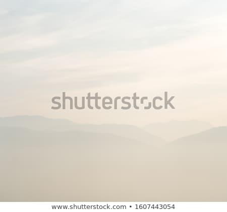 霧の 午前 青 空 家 光 ストックフォト © kornienko