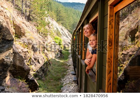 railroad and a mother with her daughter Stock photo © koca777