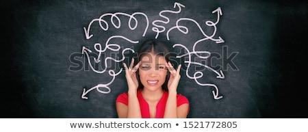 Döntésképtelenség üzletember gondolkodik izolált fehér férfi Stock fotó © silent47