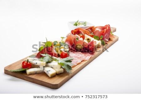 ハム · チーズ · 食品 · パン · イチゴ · 新鮮な - ストックフォト © karin59