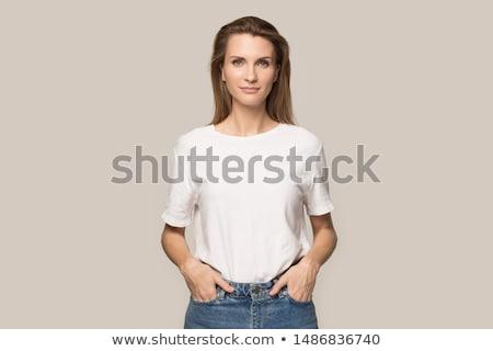 美しい 深刻 女性 肖像 スタイル ストックフォト © aetb