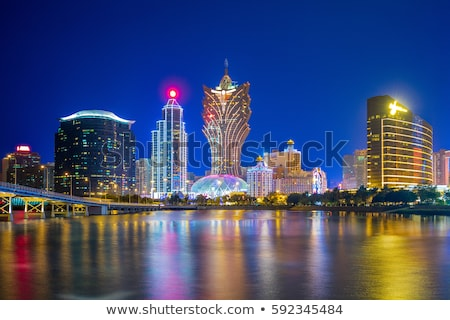 Skyline of Macau Stock photo © joyr